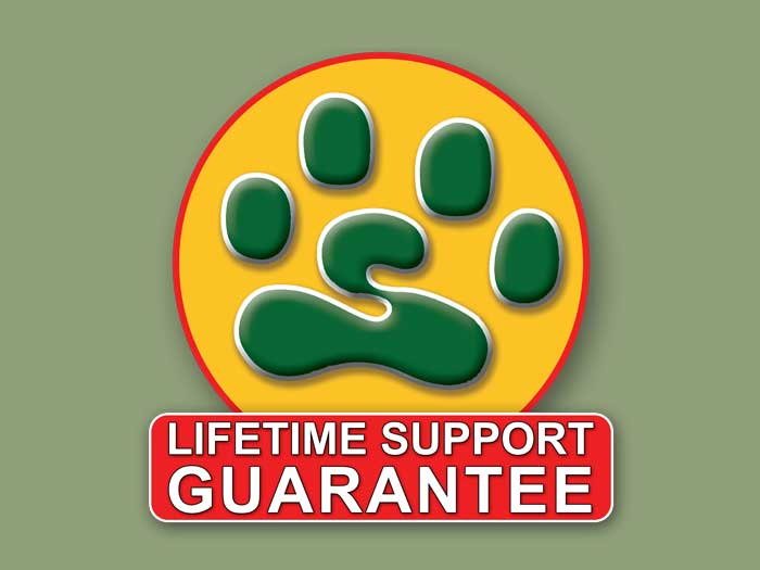 Unique Lifetime Support Guarantee